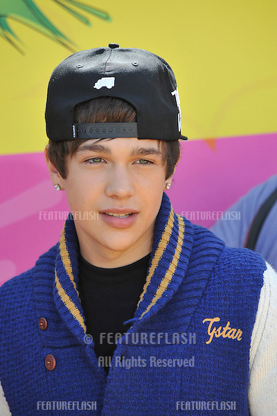 Austin Mahone at Nickelodeon's 26th Annual Kids' Choice Awards at the Galen Centre, Los Angeles..March 23, 2013  Los Angeles, CA.Picture: Paul Smith / Featureflash