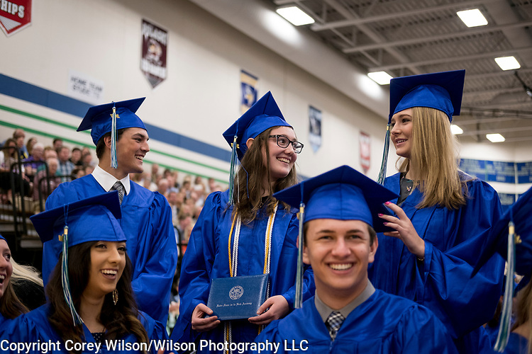Notre Dame Academy commencement ceremony in Green Bay, Wis., on May 27, 2017.