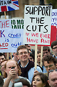 Support the Cuts. The Taxpayers Alliance Rally against Debt, Westminster.