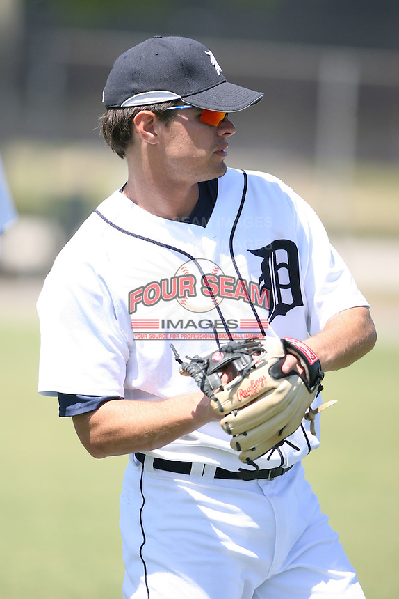 March 21st 2008:  Justin Henry of the Detroit Tigers minor league system during Spring Training at Tiger Town in Lakeland, FL.  Photo by:  Mike Janes/Four Seam Images