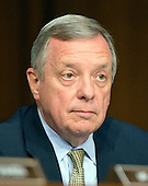 """United States Senator Richard J. Durbin (Democrat of Illinois), a member of the U.S. Senate Foreign Relations Committee, listens to testimony during the hearing on """"Authorization of Use of Force in Syria"""" on Capitol Hill in Washington, D.C. on Tuesday, September 3, 2013.<br /> Credit: Ron Sachs / CNP"""