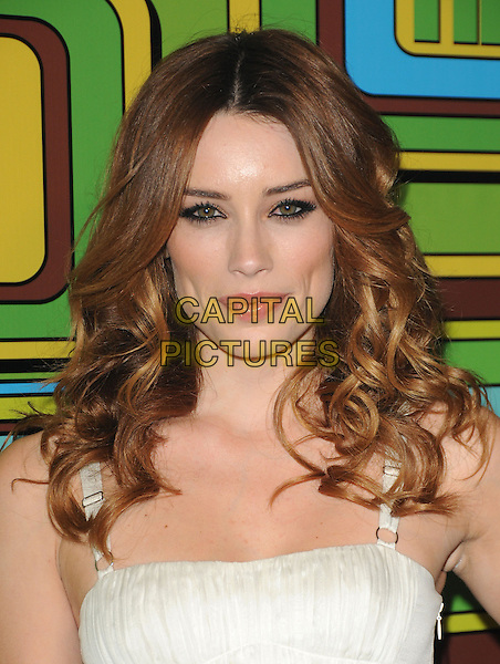 ARIELLE VANDENBERG.The HBO's Post Golden Globes Party held at The Beverly Hilton Hotel in Beverly Hills, California, USA..January 16th, 2011.headshot portrait white.CAP/RKE/DVS.©DVS/RockinExposures/Capital Pictures.