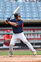 Steven Magrum (17) of Western Albemarle High School in Charlottesville, Virginia playing for the Cleveland Indians scout team during the East Coast Pro Showcase on July 31, 2014 at NBT Bank Stadium in Syracuse, New York.  (Mike Janes/Four Seam Images)