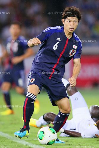 Masato Morishige (JPN), SEPTEMBER 10, 2013 - Football / Soccer : KIRIN Challenge Cup 2013 match <br /> between Japan 3-1 Ghana<br /> at Nissan Stadium in Kanagawa, Japan. <br />  (Photo by Yusuke Nakanishi/AFLO SPORT)
