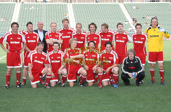 RED TEAM - JULIAN SANDS & MICHAEL SHEEN.Kick It with Beckham and the LA Galaxy Brit Night celebrity soccer game held at the Home Depot Center, Carson, California, USA, 10 May 2008..football red white blue kit sport .CAP/ADM/MJ.©Michael Jade/Admedia/Capital PIctures