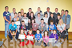 ..Juveniles from the Sliabh Luachra Boxing club who honoured at the clubs annual awards in Scartaglen Heritage Centre on Saturday front row l-r: Zoe Smith, Joel Smith, Aidan McSweeney, Lily McSweeney, Hollyanne Smith. Middle row: Brandon Murphy, TJ Broderick, Kayla Sheahan-Murphy, PJ O'Sullivan, Paul Browne, Maria Keane. Back row: Dylan O'Connor, Brian Daly, Daniel Costello, Laura Fitzmaurice, JJ O'Connor, Kevin Murphy, Liam Murphy, Jordan Coffey. Back row: Anthony Walsh, John Coffey, Jennifer Coffey, Michael Costello, Cieran O'Sullivan, John O'Connell, Eddie O'Shea, Priscilla O'Brien and Carmel O'Connell..