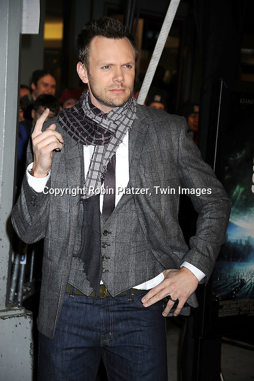 "Joel McHale, host of ""The Soup"" on E Television ..at The New York Premiere of ""The Day the Earth Stood Still"" on December 9, 2008 at the AMC Loews Lincoln Square. Keanu Reeves, Jennifer Connelly, Kathy Bates, ..Jaden Smith and Jon Hamm are in the movie....Robin Platzer, Twin Images"