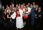 Joanna Glushak  with Patti Lupone, Christine Ebersole, Douglas Sills, John Dossett and the cast during the Actors' Equity Gypsy Robe honoring Joanna Glushak for 'War Paint' at the Nederlander Theatre on April 6, 2017 in New York City