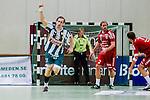 Stockholm 2013-11-10 Handboll Elitserien Hammarby IF - Eskilstuna Guif :  <br /> Hammarby 23 Richard Hanisch jublar efter att ha gjort ett m&aring;l<br /> (Foto: Kenta J&ouml;nsson) Nyckelord:  jubel gl&auml;dje lycka glad happy