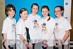 Pictured at the IT North Campus Creative Media Awards were l-r: Barry Sugrue (Gaelscoil Mhic Easmainn) Alanah Dennehy (Scoil Eoin Balloonagh) Katie Nagle (Scoil Eoin Balloonagh) Rebecca Dennehy (Scoil Eoin Balloonagh) Christina Nic Gearailt (Gaelscoil Mhic Easmainn)..