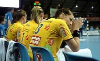 Handball Frauen / Damen  / women 1. Bundesliga - DHB - HC Leipzig : Frankfurter HC - im Bild: Luisa Schulze in sich hoffend auf den Ausgleich. Porträt . Foto: Norman Rembarz .