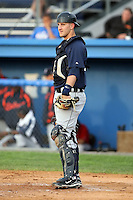 July 24 2008:  Catcher Joe Bowen of the Oneonta Tigers, Class-A affiliate of the Detroit Tigers, during a game at Dwyer Stadium in Batavia, NY.  Photo by:  Mike Janes/Four Seam Images