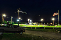 Little League baseball game at night, Lewes, Delaware, USA