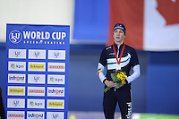 SPEEDSKATING: CALGARY: 15-11-2015, Olympic Oval, ISU World Cup, Podium 1500m Men, Bart Swings (BEL), ©foto Martin de Jong