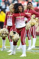 Landover, MD - December 30, 2018: Washington Redskins cheerleader during the  game between Philadelphia Eagles and Washington Redskins at FedEx Field in Landover, MD.   (Photo by Elliott Brown/Media Images International)
