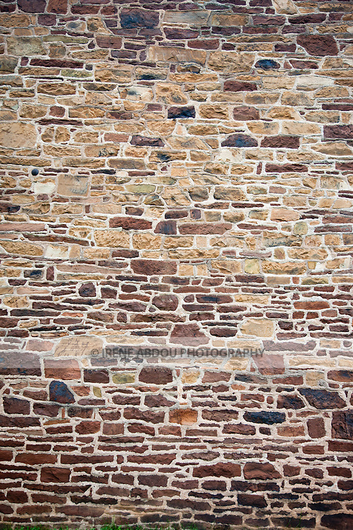Wall of the Stone House at Manassas National Battlefield Park in Virginia.