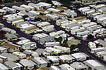 Aerial photograph of Mobile Home Park, neighborhood, housing developments,