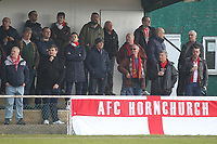 Hornchurch faithful during AFC Hornchurch vs Canvey Island, Bostik League Division 1 North Football at Hornchurch Stadium on 10th March 2018