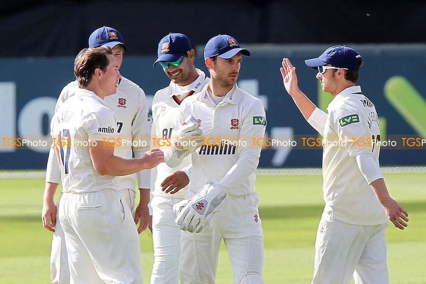 Joy for Essex as Graham Napier (L) claims the wicket of Azeem Rafiq - Essex CCC vs Yorkshire CCC - LV County Championship Division Two Cricket at the Ford County Ground, Chelmsford, Essex - 12/09/12 - MANDATORY CREDIT: Gavin Ellis/TGSPHOTO - Self billing applies where appropriate - 0845 094 6026 - contact@tgsphoto.co.uk - NO UNPAID USE.