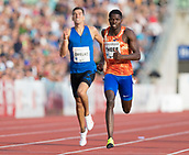 June 15th 2017, Bislett Stadion , Oslo, Norway; Diamond League Oslo Bislett Games;  Baboloki Thebe of Botswana wins the men´s 400m during the IAAF Diamond League held at the Bislett Stadium in Oslo, Norway