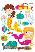 Lamont, GIFT WRAPS, GESCHENKPAPIER, PAPEL DE REGALO, paintings+++++,USGTJF209,#gp#, EVERYDAY ,notebook,notebooks,mermaids ,sticker,stickers