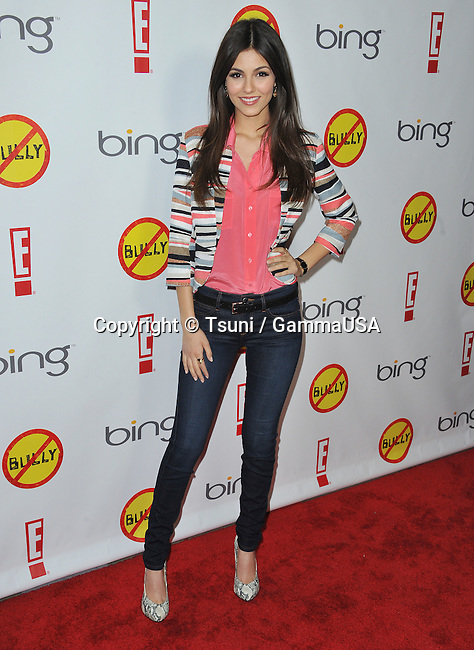 Victoria Justice at the Bully Premiere at The Chinese Theatre 6 in Los Angeles.