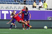 Orlando, FL - Sunday June 26, 2016: Allie Long, Kristen Edmonds  during a regular season National Women's Soccer League (NWSL) match between the Orlando Pride and the Portland Thorns FC at Camping World Stadium.