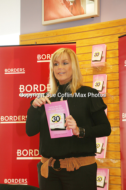"""One Life To Live's Catherine Hickland """"Lindsay"""" has a discussion and signing  of her new book """"The 30 Day Heartbreak Cure"""" on February 7, 2009 at Borders Books and Music in Westbury, NY. """"The 30 Day Heartbreak Cure is about restoring self-esteem, learning from the best and the worst of experiences, and ultimately, moving forward and getting back out there."""" (Photo by Sue Coflin/Max Photos)"""