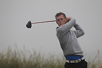 Ross Dutton (Tandragee) on the 1st tee during Round 1 - Matchplay of the North of Ireland Championship at Royal Portrush Golf Club, Portrush, Co. Antrim on Wednesday 11th July 2018.<br /> Picture:  Thos Caffrey / Golffile