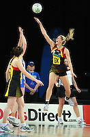 28.06.2010 Magic's Casey Williams in action during the ANZ Champs Semi Final netball match between the Magic and Steel played at Vector Arena in Auckland. ©MBPHOTO/Michael Bradley
