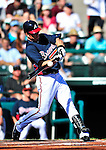 13 March 2010: Atlanta Braves' outfielder Brent Clevlen in action during a Spring Training game against the Toronto Blue Jays at Champion Stadium in the ESPN Wide World of Sports Complex in Orlando, Florida. The Blue Jays shut out the Braves 3-0 in Grapefruit League action. Mandatory Credit: Ed Wolfstein Photo