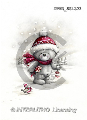 Isabella, CHRISTMAS ANIMALS, paintings(ITKE551371,#XA#) Weihnachten, Navidad, illustrations, pinturas