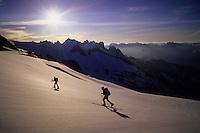 Sylvain and Mélanie on Sulphide Glacier, Mount Shuksan, Cascades, USA, June 2009