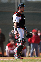 February 28, 2010:  Catcher Jimmy Jacquot of the Cincinnati Bearcats during the Big East/Big 10 Challenge at Raymond Naimoli Complex in St. Petersburg, FL.  Photo By Mike Janes/Four Seam Images