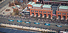 Aerial view of the Eagles Victory Parade in front of the Xfinity Live Philadelphia