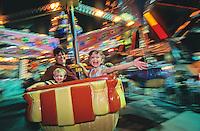 Summer Carnival, family enjoying the rides. Ocean City, New Jersey