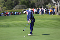 Jake Owen putts on the 5th green at Pebble Beach Golf Links during Saturday's Round 3 of the 2017 AT&amp;T Pebble Beach Pro-Am held over 3 courses, Pebble Beach, Spyglass Hill and Monterey Penninsula Country Club, Monterey, California, USA. 11th February 2017.<br /> Picture: Eoin Clarke | Golffile<br /> <br /> <br /> All photos usage must carry mandatory copyright credit (&copy; Golffile | Eoin Clarke)