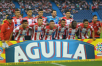 BARRANQUILLA -COLOMBIA ,20-08-2017.  Jugadores de Junior posan para una foto previo al encuentro entre Atletico Junior y Once Caldas por la fecha 9 de la Liga Aguila II 2017 jugado en el estadio Metroplitano Roberto Meléndez de la ciudad de Barranquilla. / Players of Junior pose to a photo prior the match between Atletico Junior and Once Caldas for the date 9 of the Liga Aguila II 2017 played at the Metropolitano  Stadium in Barranquilla city. Photo:VizzorImage / Alfonso Cervantes  / Cont
