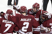 Casey Wellman (UMass - 7), Martin Nolet (UMass - 2), Matt Irwin (UMass - 44), James Marcou (UMass - 19) - The Boston College Eagles defeated the University of Massachusetts-Amherst Minutemen 5-2 on Saturday, March 13, 2010, at Conte Forum in Chestnut Hill, Massachusetts, to sweep their Hockey East Quarterfinals matchup.