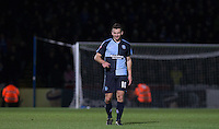 Matthew Bloomfield of Wycombe Wanderers during the Sky Bet League 2 match between Wycombe Wanderers and Portsmouth at Adams Park, High Wycombe, England on 28 November 2015. Photo by Andy Rowland.