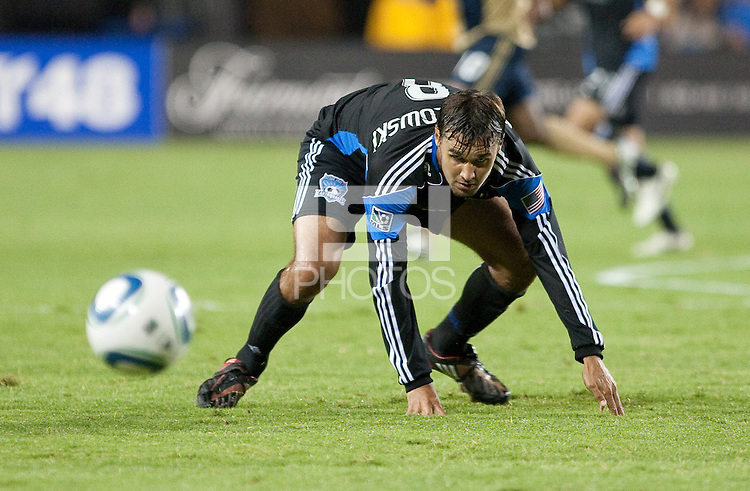 Chris Wondolowski on the play. The San Jose Earthquakes defeated the Philadelphia Unioin 1-0 at Buck Shaw Stadium in Santa Clara, California on September 15th, 2010.