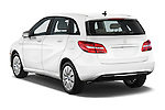 Car pictures of rear three quarter view of 2017 Mercedes Benz B-Class Electric-Drive 5 Door Mini MPV Angular Rear