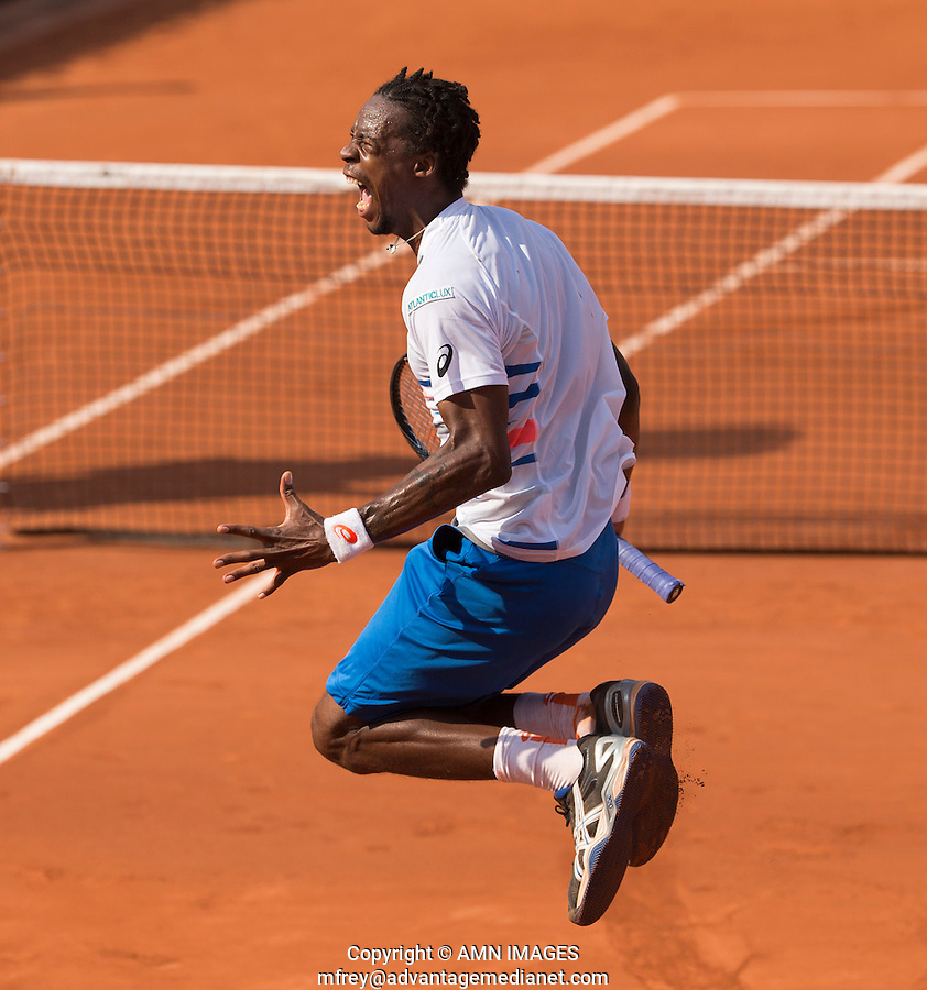 GAEL MONFILS (FRA)<br /> <br /> Tennis - French Open 2014 -  Toland Garros - Paris -  ATP-WTA - ITF - 2014  - France <br /> 31st  May 2014. <br /> <br /> &copy; AMN IMAGES