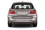 Straight rear view of a 2015 BMW 2 Series 5 Door Mini MPV 2WD Rear View  stock images