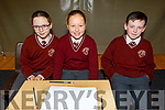 Holy Family NS taking part in the Cara Credit Union School Quiz in the I T Tralee on Sunday. L to r: Zofia Lange, Verionca Paprocka and Jaden Canty.