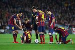 UEFA Champions League 2013/2014.<br /> Quarter-finals 1st leg.<br /> FC Barcelona vs Club Atletico de Madrid: 1-1.