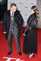 "Tom Hanks and wife, Rita Wlson<br /> arriving for the European premiere of ""The Post"" at the Odeon Leicester Square, London<br /> <br /> <br /> ©Ash Knotek  D3368  10/01/2018"