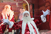 London, UK. 20 October 2016. Father Christmas checks out the window displays. Selfridges is the first department store in the world to unveil its Christmas windows and full in-store displays - today, Thursday, 20 October 2016, with Shine On! as the theme. Led by Santa, the star of this year's festive window display, the Shine On! theme is an invitation open to everyone to celebrate the season and to party.