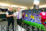 The Launch of Kerry's Eye's Online Premiership competition with sponsor Soundstore. Pictured Jim O'Gorman, Sports Editor Kerry's Eye and Anthony Guerin Store manager, Soundstore