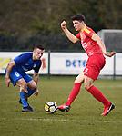 2018-03-11 / Voetbal / Seizoen 2017-2018 / Vosselaar VV - Kapellen / Joren Dehond met Maxim Volant (r. Kapellen)<br /> <br /> ,Foto: Mpics.be